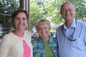 Nancy Sheppard (left), pictured with David and Nancy Writebol