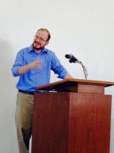 Rev. Jason Boyle preaches to pastors at a conference in Hermosillo, Mexico.