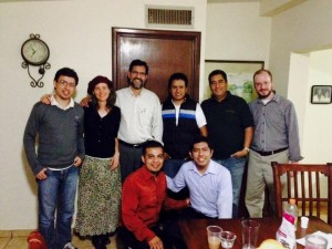 Rev. Jason Boyle (top far right) pictured with Rev. Paco Orozco (top row third from left) and several pastors from the Bible conference in Hermosillo.