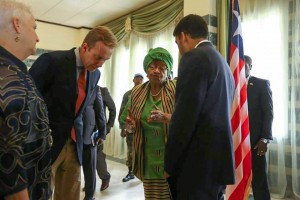 USAID Administrator Raj Shah is on the ground in Monrovia, Liberia to meet with President Ellen Johnson Sirleaf, aid organizations, & staff involved in the Ebola response. He also visited an Ebola treatment unit where we have provided plastic sheeting for construction. The U.S. has deployed more than 600 U.S. government personnel to West Africa—making this the largest-ever American response to a global health crisis. US AID IMAGE, Flickr