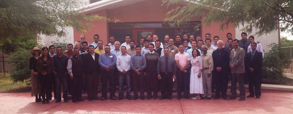 A group photograph taken of the pastors at the Bible conference in Hermosillo, Mexico.