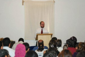 Missionary Jason Boyle preaches to his growing congregation in Mexico City.