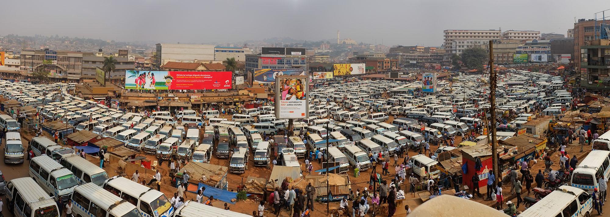 Panorama of central minibus station, Kampala, Uganda, © 2013 Fred Inklaar, Flickr.