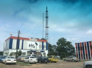 ELBC radio station in Paynesville, Liberia.