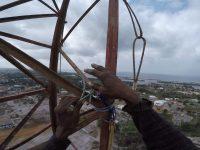 VIDEO: FPC Liberia FM Radio Antenna Removal at 250′