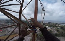 VIDEO: FPC Liberia FM Radio Antenna Removal at 250′