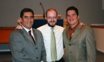 Rev. Boyle with Pastors Marcus Reyes and  Lalo Peña